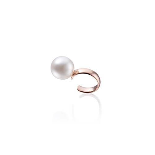 10mm pearl earcuff_rose gold