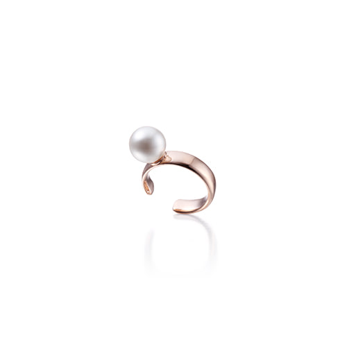 6mm pearl earcuff_rose gold