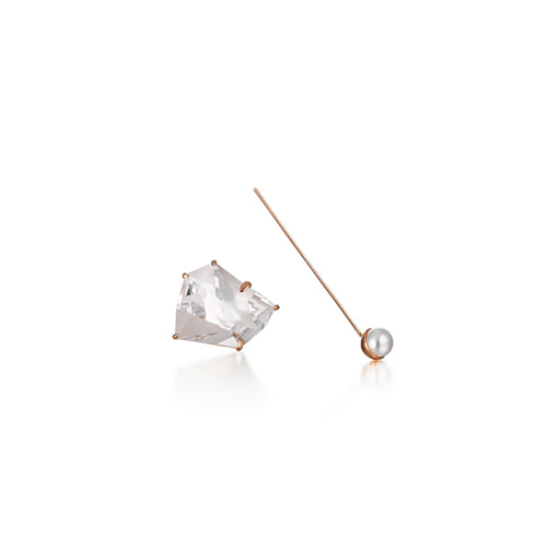 a slow waltz earring_rose gold