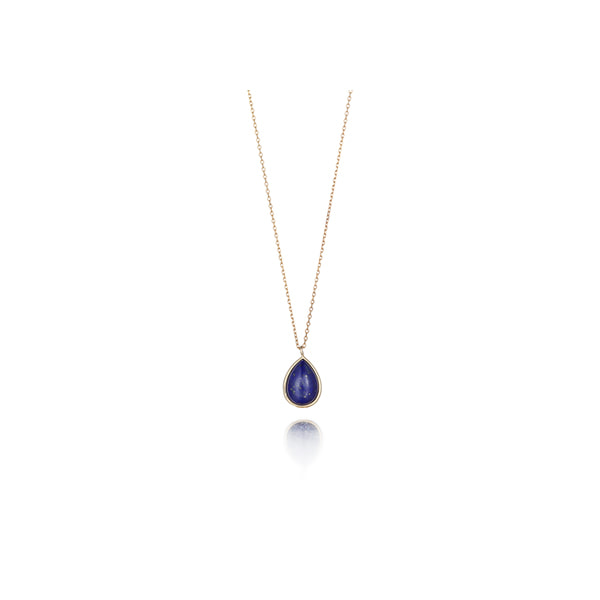 Lapis Lazuki_drop necklace