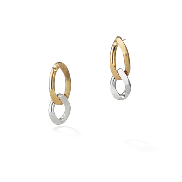 two-tone chain earring 02