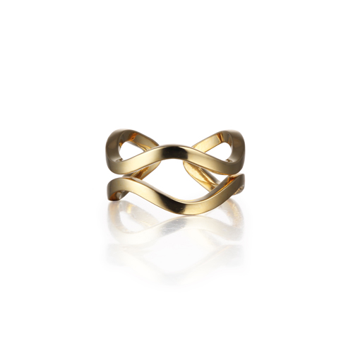WAVE basig ring gold