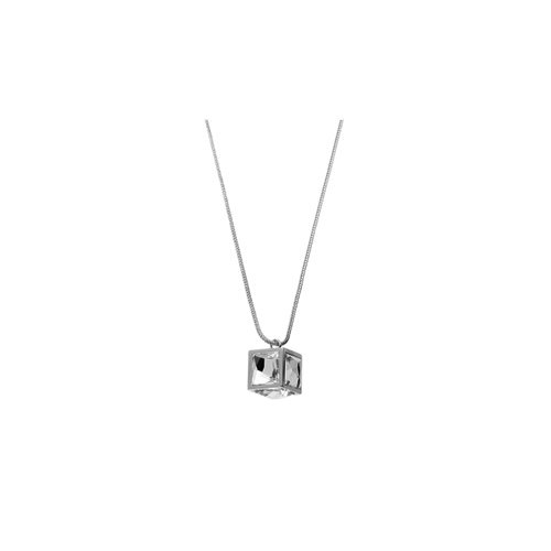 CUBE necklace_ white gold