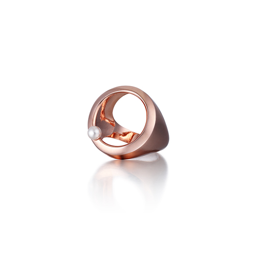 dotted note_rose gold