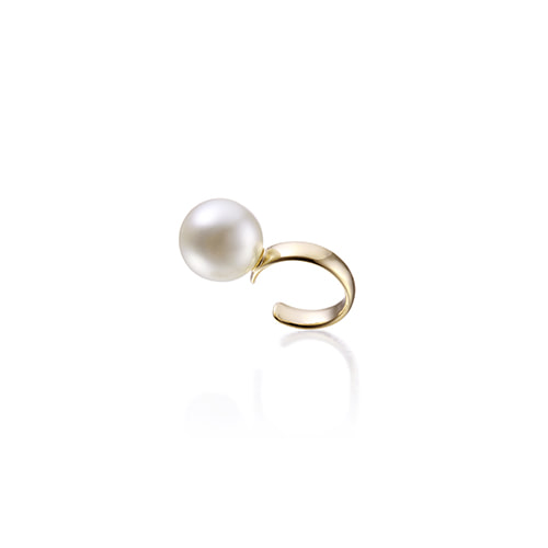 10mm pearl earcuff_yellow gold