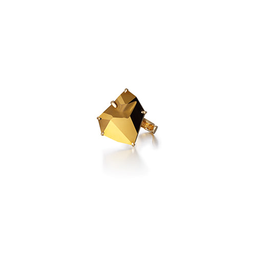 a slow waltz ring_metalic gold