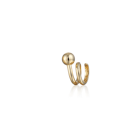 curly_ball(small size)_pinky ring