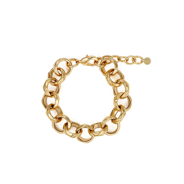 chain bracelet 03_hammered chain_yellow gold